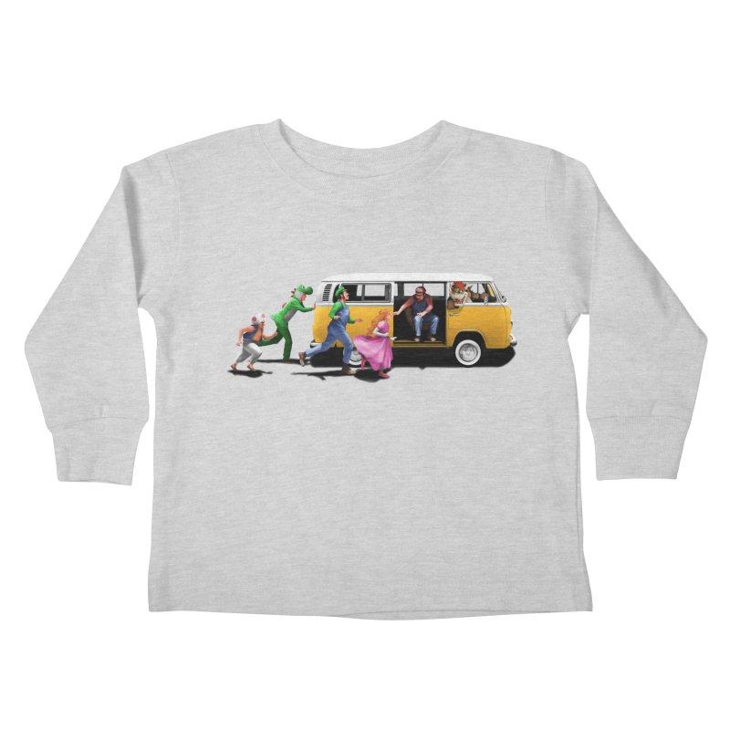 Little Peach Sunshine Kids Toddler Longsleeve T-Shirt by kooky love's Artist Shop