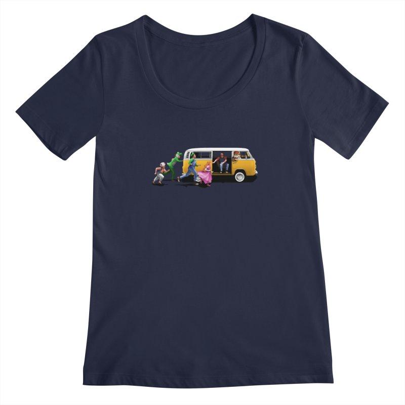 Little Peach Sunshine Women's Regular Scoop Neck by kooky love's Artist Shop