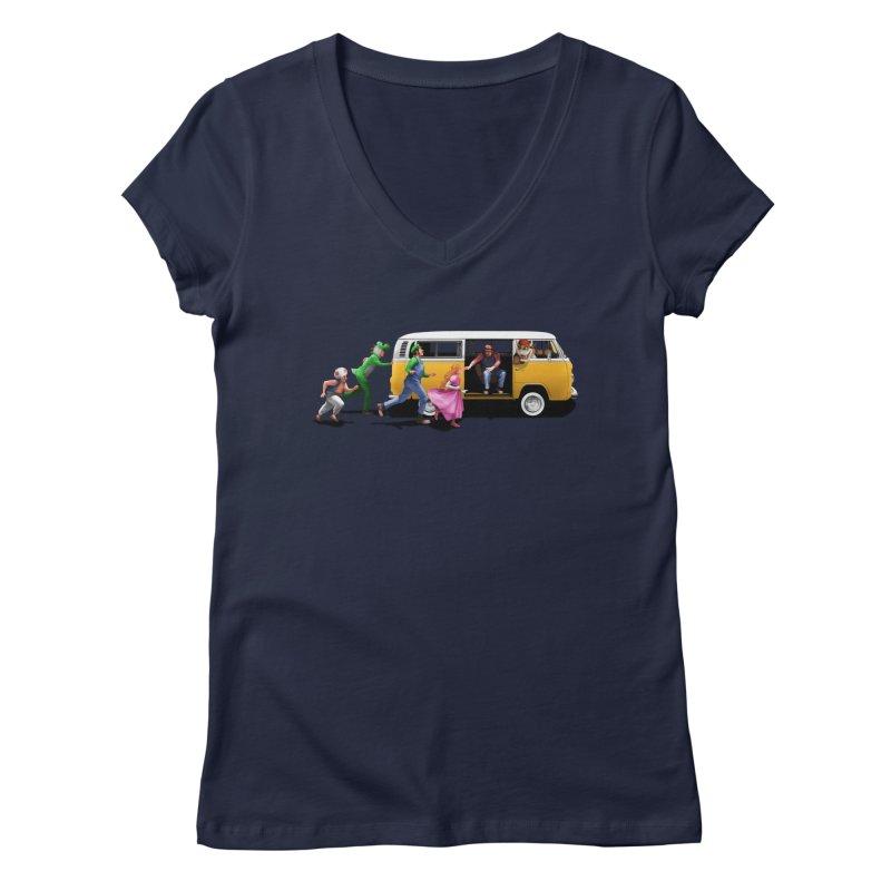 Little Peach Sunshine Women's Regular V-Neck by kooky love's Artist Shop