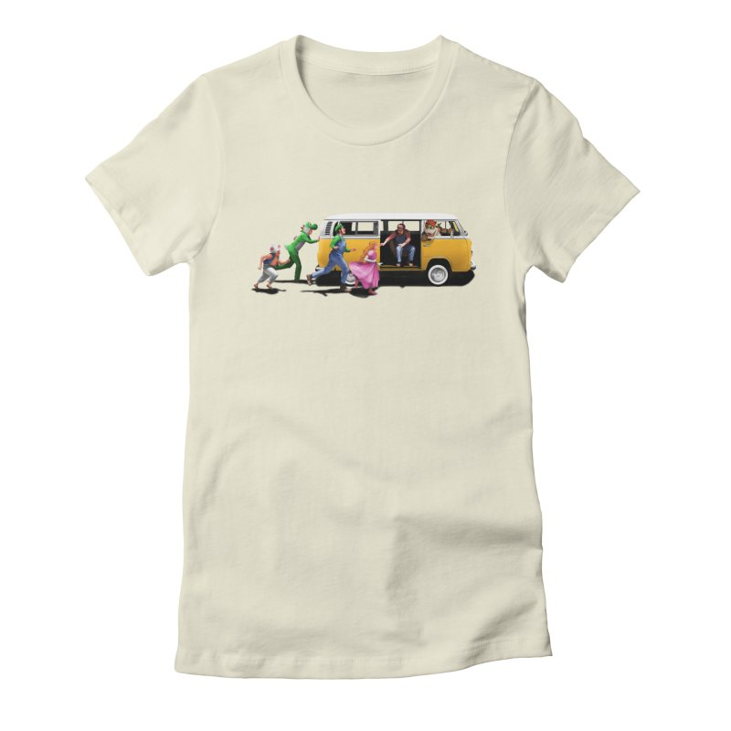 Little Peach Sunshine Women's Fitted T-Shirt by kooky love's Artist Shop