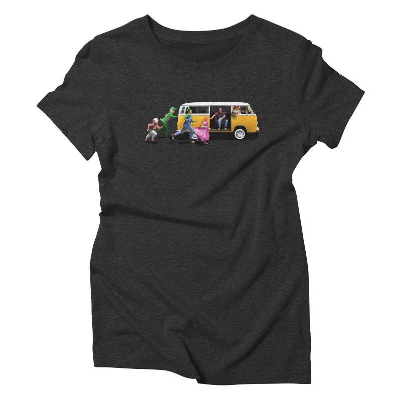 Little Peach Sunshine Women's Triblend T-Shirt by kooky love's Artist Shop