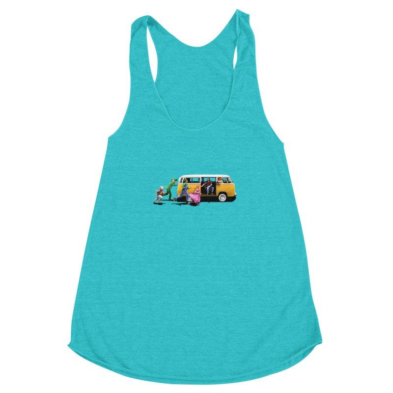Little Peach Sunshine Women's Racerback Triblend Tank by kooky love's Artist Shop
