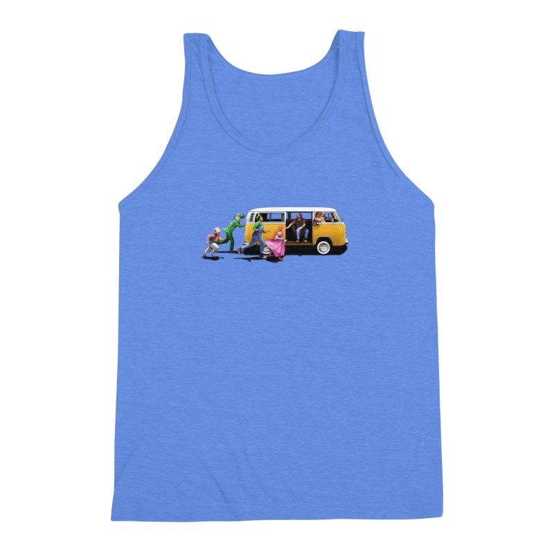 Little Peach Sunshine Men's Triblend Tank by kooky love's Artist Shop