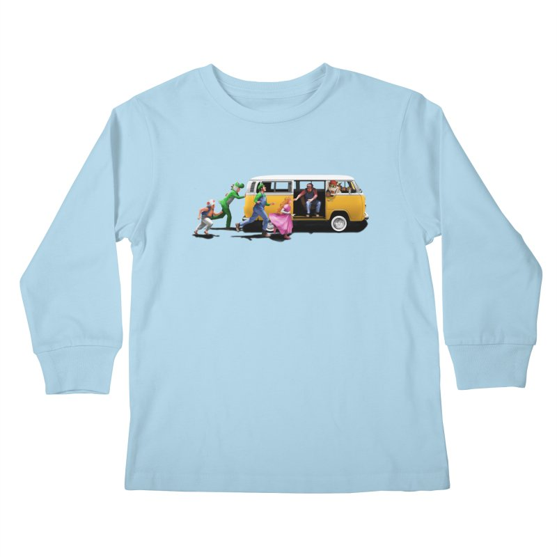 Little Peach Sunshine Kids Longsleeve T-Shirt by kooky love's Artist Shop