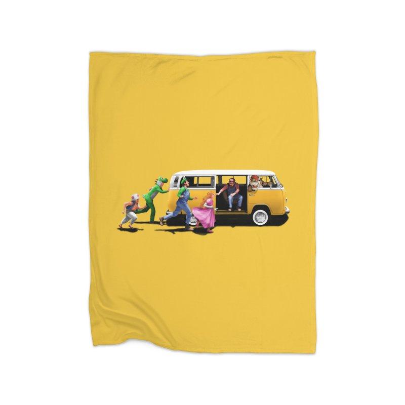 Little Peach Sunshine Home Fleece Blanket Blanket by kooky love's Artist Shop
