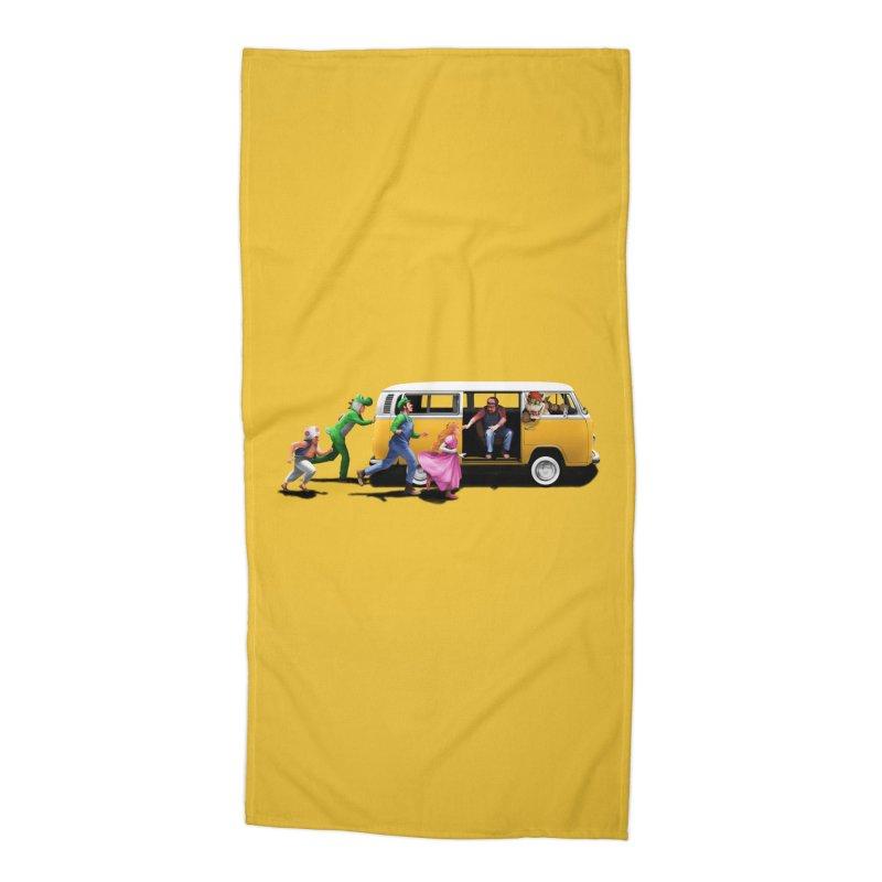 Little Peach Sunshine Accessories Beach Towel by kooky love's Artist Shop