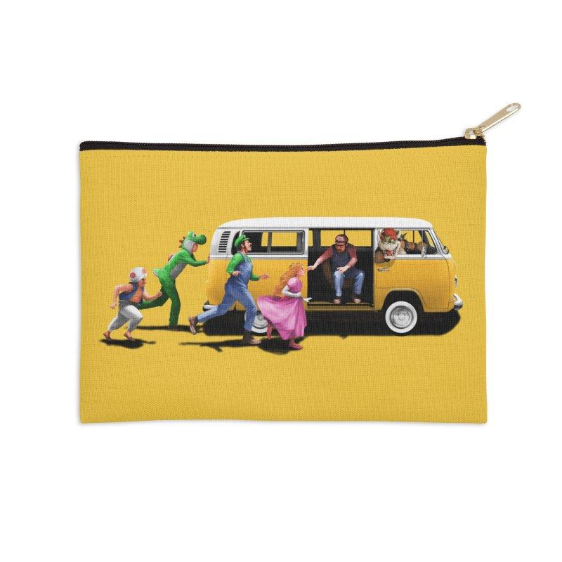 Little Peach Sunshine Accessories Zip Pouch by kooky love's Artist Shop