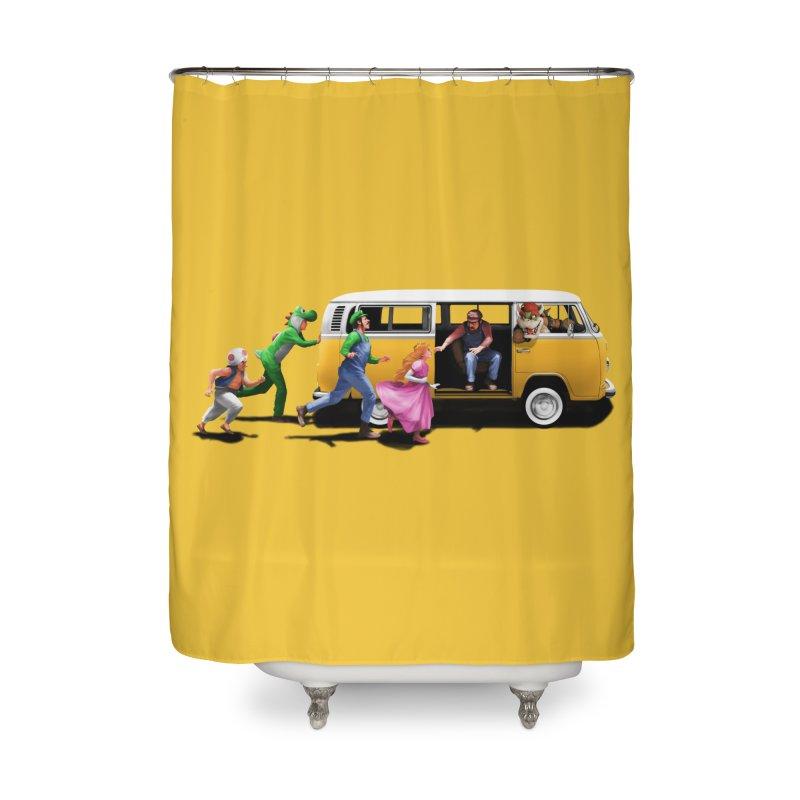 Little Peach Sunshine Home Shower Curtain by kooky love's Artist Shop