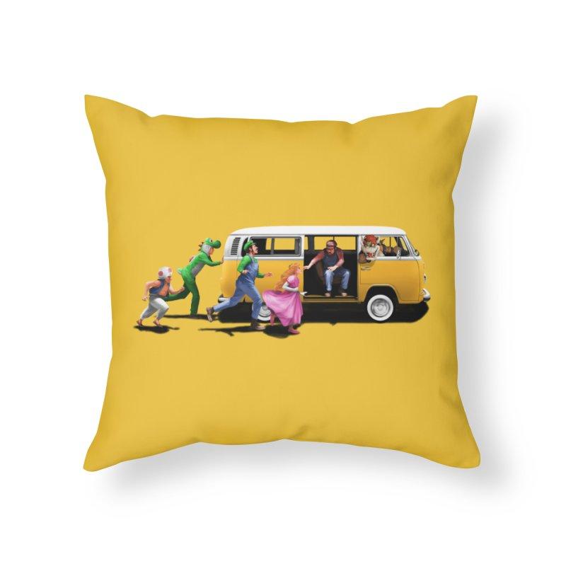 Little Peach Sunshine Home Throw Pillow by kooky love's Artist Shop