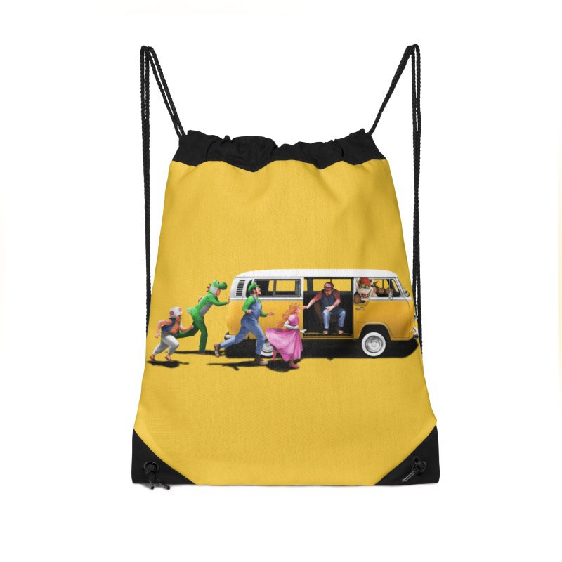 Little Peach Sunshine Accessories Drawstring Bag Bag by kooky love's Artist Shop