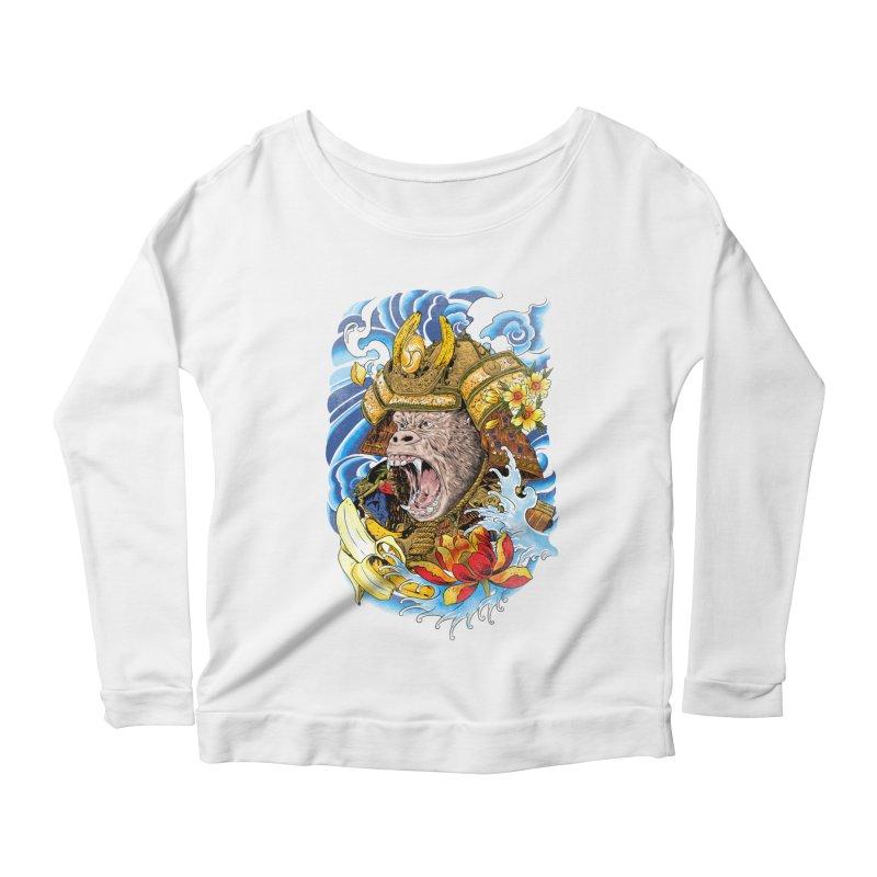 Samurape Women's Scoop Neck Longsleeve T-Shirt by kooky love's Artist Shop