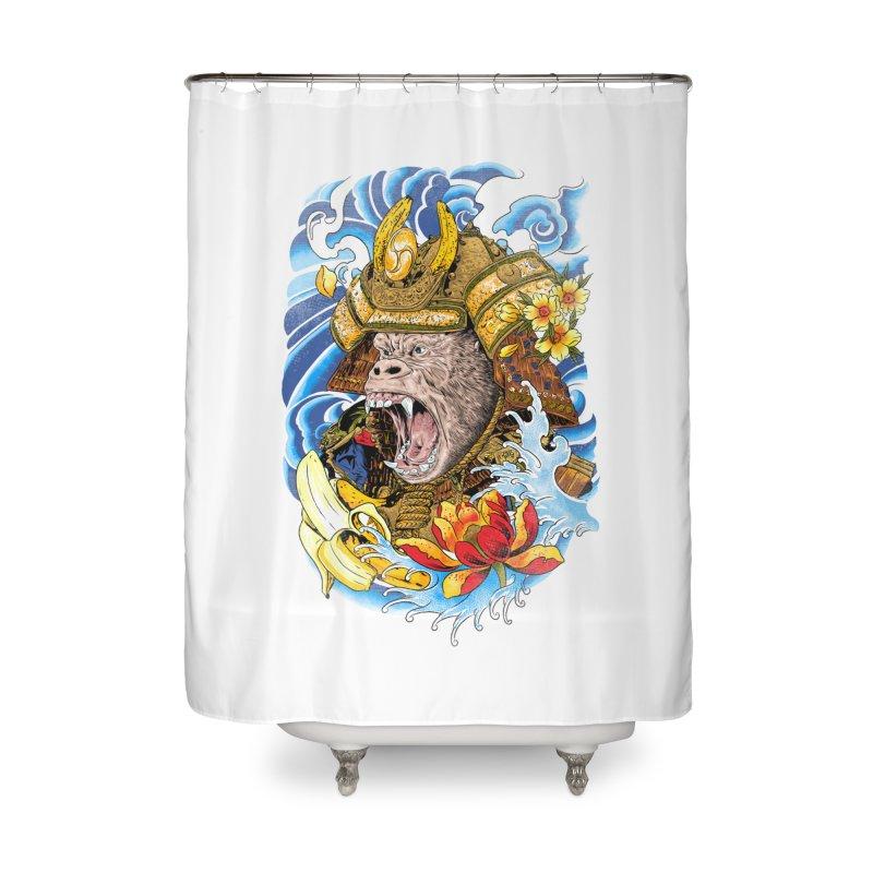 Samurape Home Shower Curtain by kooky love's Artist Shop