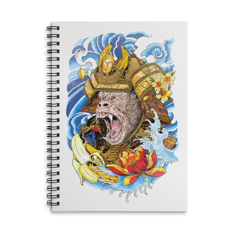 Samurape Accessories Lined Spiral Notebook by kooky love's Artist Shop