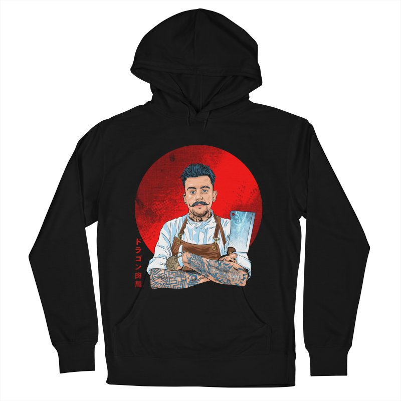 Dragon Buttcher Men's French Terry Pullover Hoody by kooky love's Artist Shop