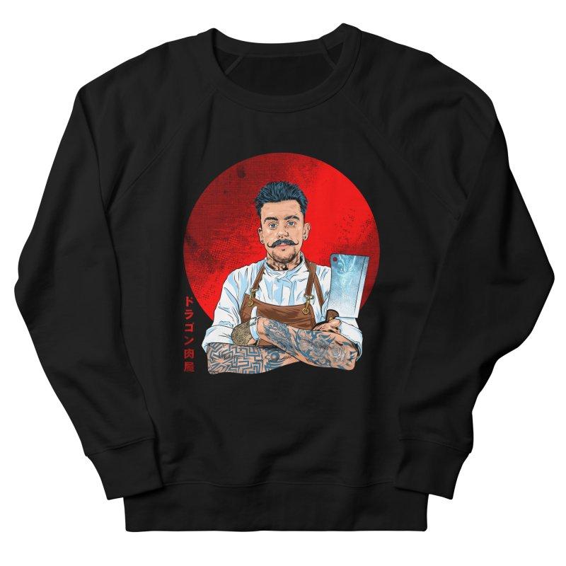 Dragon Buttcher Men's French Terry Sweatshirt by kooky love's Artist Shop