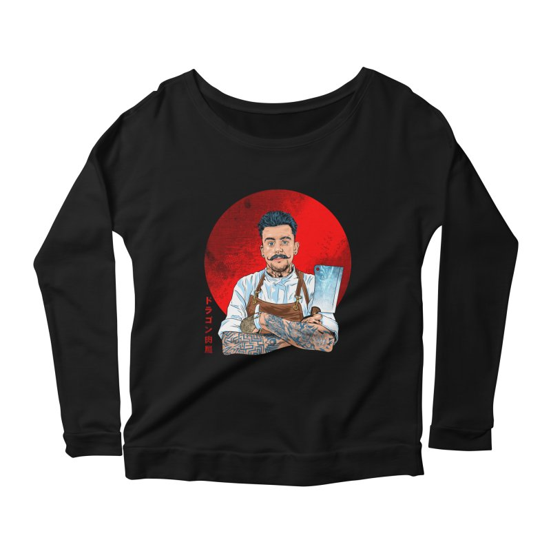 Dragon Buttcher Women's Scoop Neck Longsleeve T-Shirt by kooky love's Artist Shop