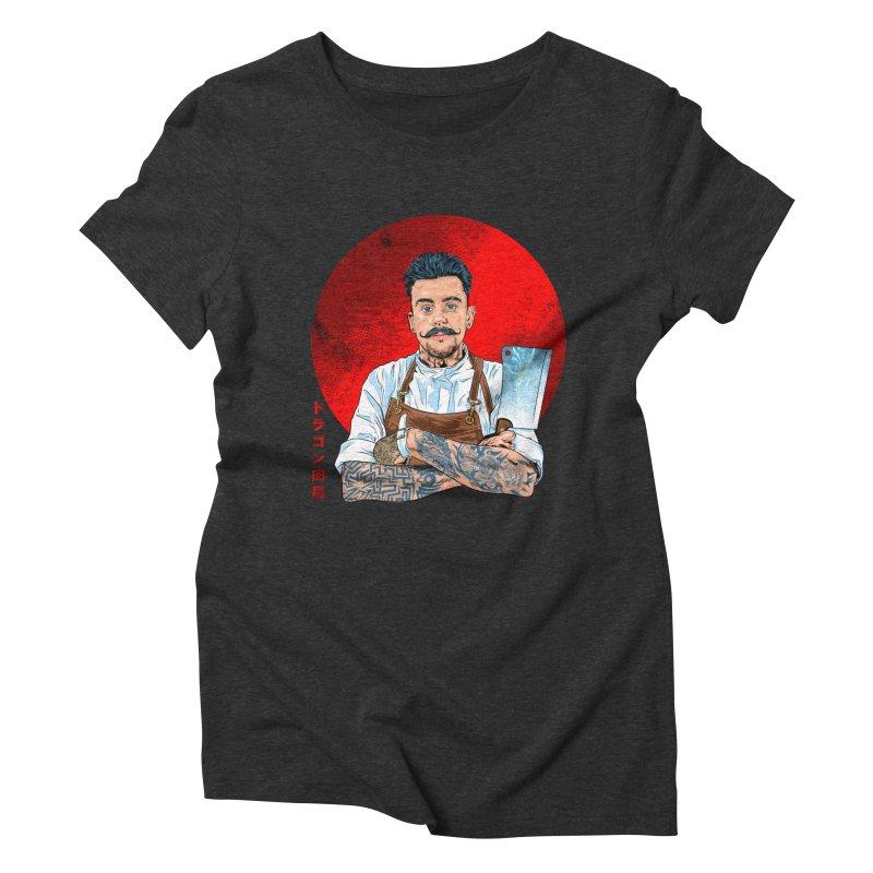 Dragon Buttcher Women's Triblend T-Shirt by kooky love's Artist Shop