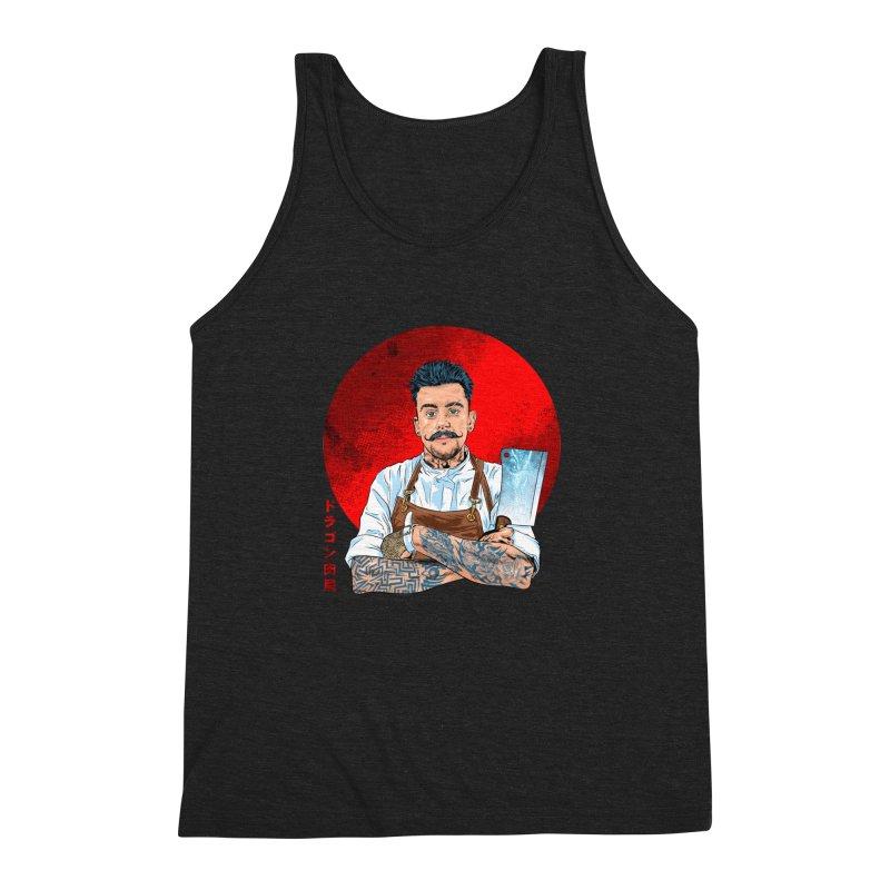 Dragon Buttcher Men's Triblend Tank by kooky love's Artist Shop