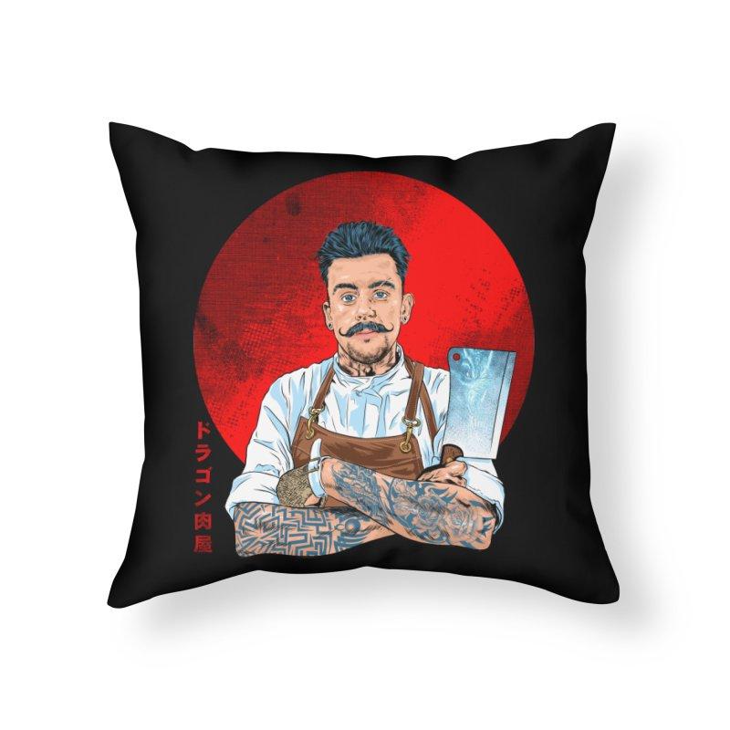 Dragon Buttcher Home Throw Pillow by kooky love's Artist Shop