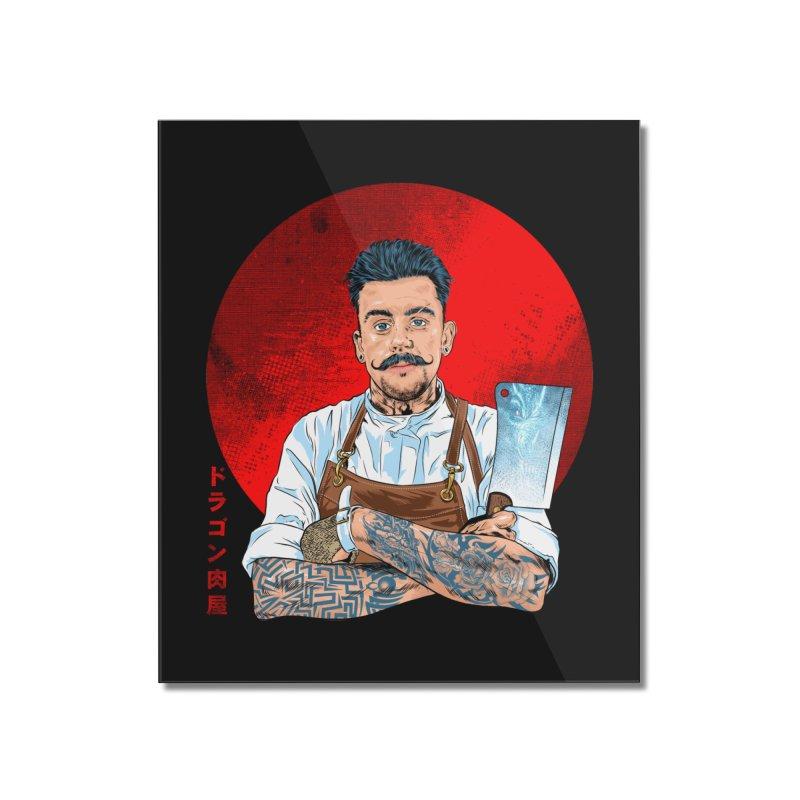 Dragon Buttcher Home Mounted Acrylic Print by kooky love's Artist Shop