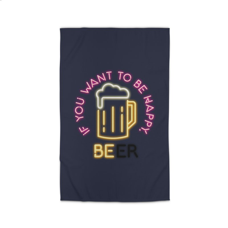 IF YOU WANT TO BE HAPPY, BEER Home Rug by kooky love's Artist Shop
