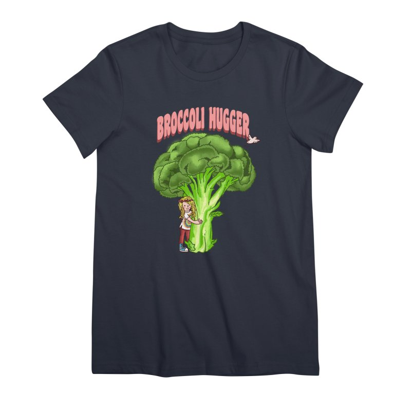 Broccoli Hugger Women's Premium T-Shirt by kooky love's Artist Shop