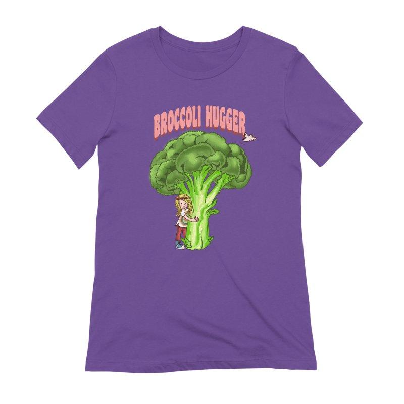 Broccoli Hugger Women's Extra Soft T-Shirt by kooky love's Artist Shop