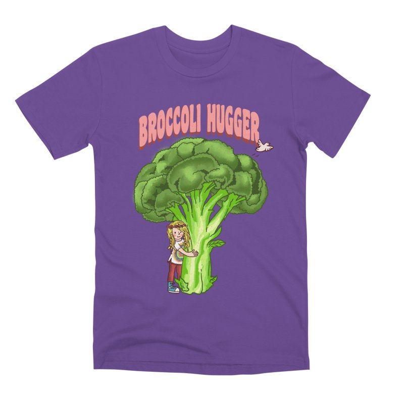 Broccoli Hugger Men's Premium T-Shirt by kooky love's Artist Shop