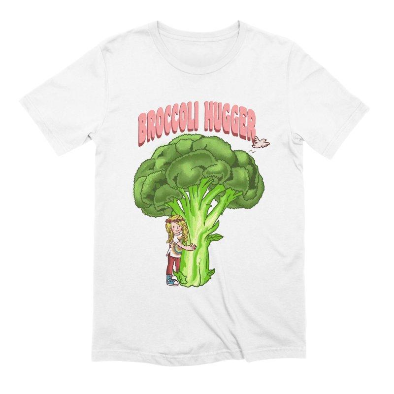Broccoli Hugger Men's Extra Soft T-Shirt by kooky love's Artist Shop