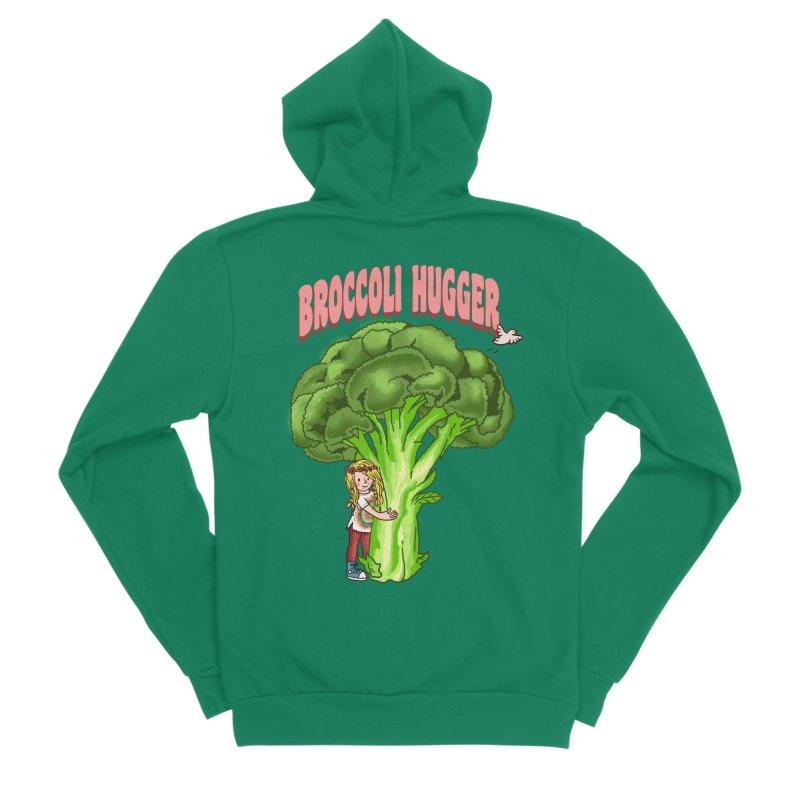 Broccoli Hugger Men's Sponge Fleece Zip-Up Hoody by kooky love's Artist Shop