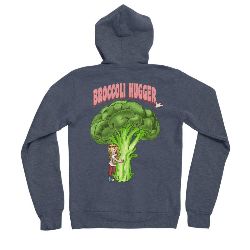 Broccoli Hugger Women's Sponge Fleece Zip-Up Hoody by kooky love's Artist Shop