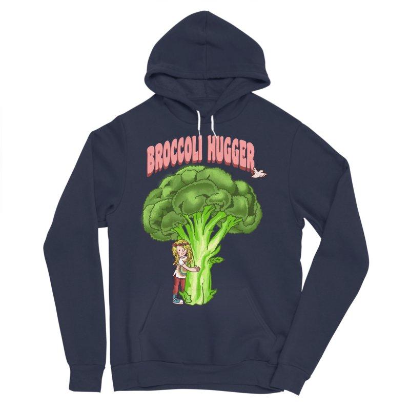 Broccoli Hugger Men's Sponge Fleece Pullover Hoody by kooky love's Artist Shop
