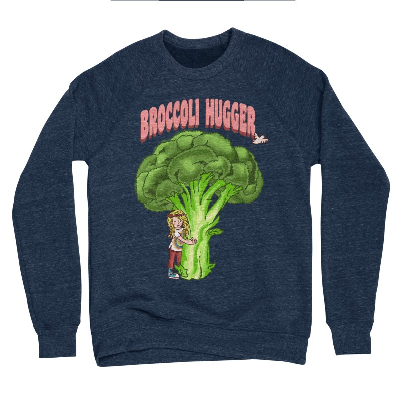 Broccoli Hugger Men's Sponge Fleece Sweatshirt by kooky love's Artist Shop