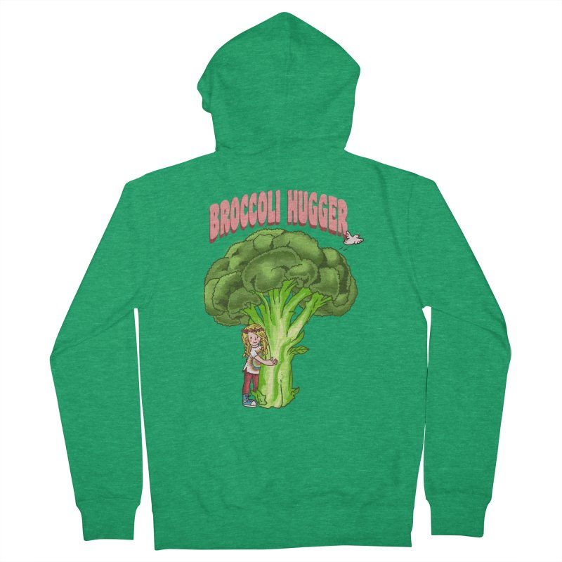 Broccoli Hugger Men's Zip-Up Hoody by kooky love's Artist Shop