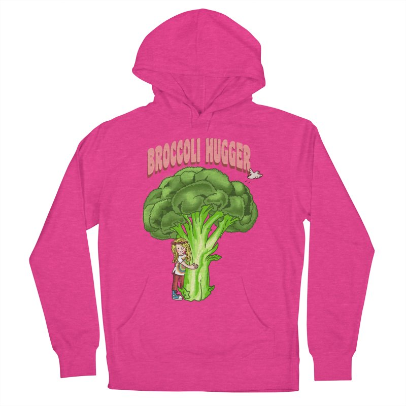 Broccoli Hugger Women's French Terry Pullover Hoody by kooky love's Artist Shop
