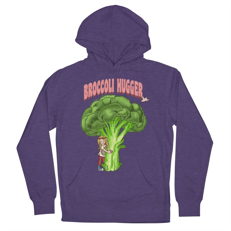 Broccoli Hugger Men's French Terry Pullover Hoody by kooky love's Artist Shop