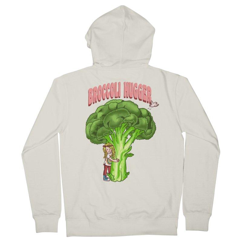Broccoli Hugger Women's French Terry Zip-Up Hoody by kooky love's Artist Shop