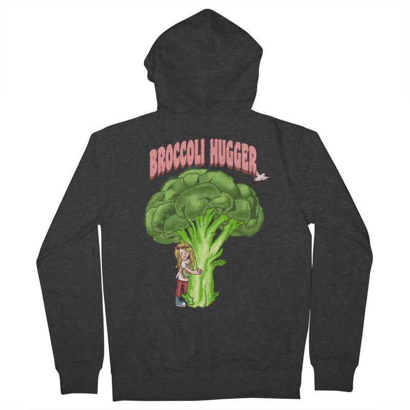 Broccoli Hugger Men's French Terry Zip-Up Hoody by kooky love's Artist Shop