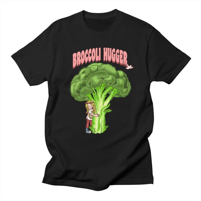 Broccoli Hugger Men's Regular T-Shirt by kooky love's Artist Shop