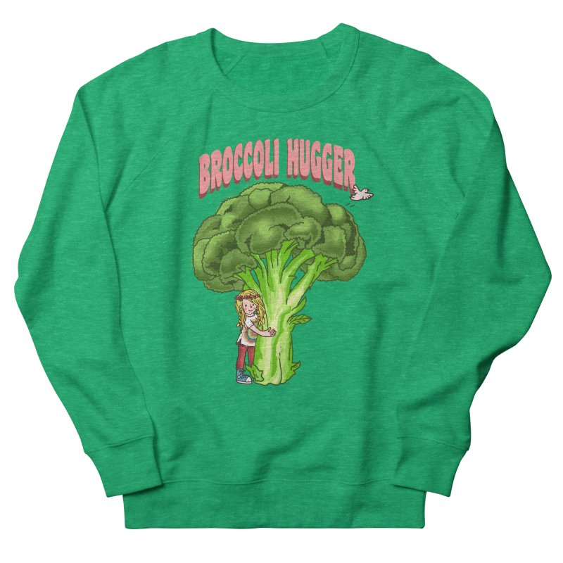 Broccoli Hugger Women's French Terry Sweatshirt by kooky love's Artist Shop