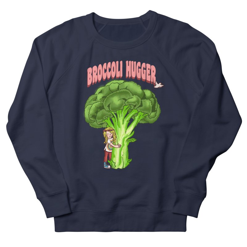 Broccoli Hugger Women's French Terry Sweatshirt by kooky love's Artist Shop