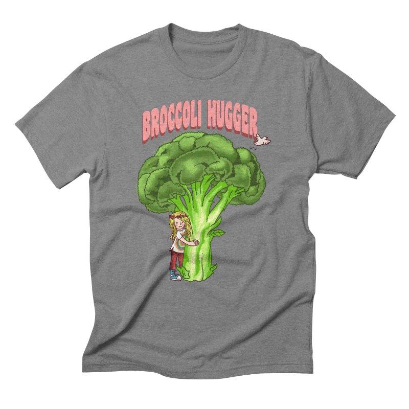 Broccoli Hugger Men's Triblend T-Shirt by kooky love's Artist Shop