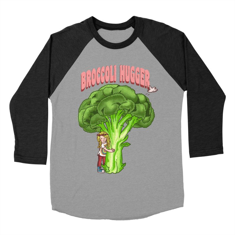 Broccoli Hugger Women's Baseball Triblend Longsleeve T-Shirt by kooky love's Artist Shop