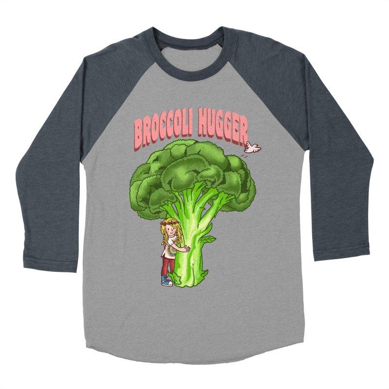 Broccoli Hugger Women's Baseball Triblend Longsleeve T-Shirt by kooky love's Artist Shop