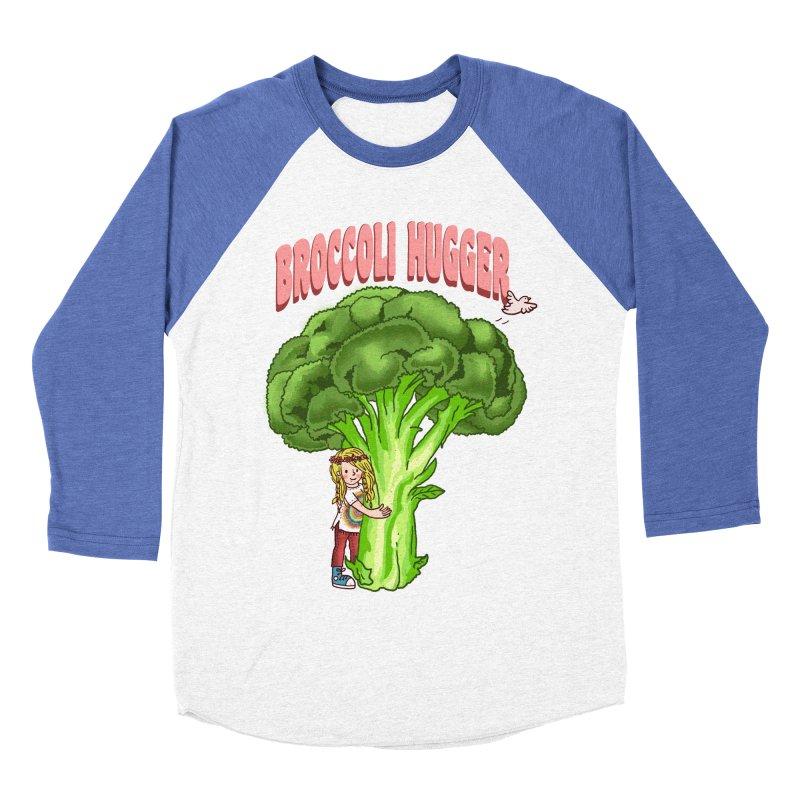Broccoli Hugger Men's Baseball Triblend Longsleeve T-Shirt by kooky love's Artist Shop