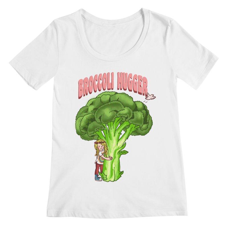 Broccoli Hugger Women's Regular Scoop Neck by kooky love's Artist Shop