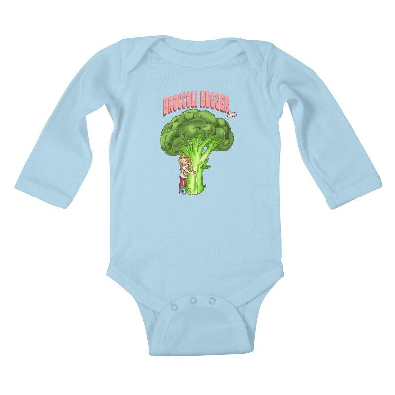 Broccoli Hugger Kids Baby Longsleeve Bodysuit by kooky love's Artist Shop