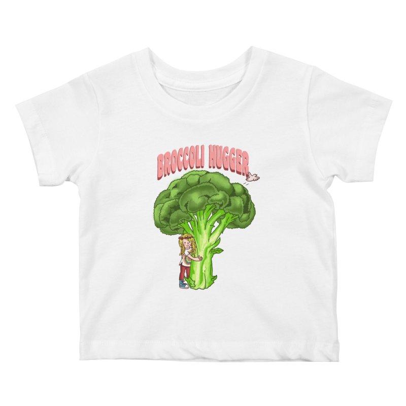 Broccoli Hugger Kids Baby T-Shirt by kooky love's Artist Shop