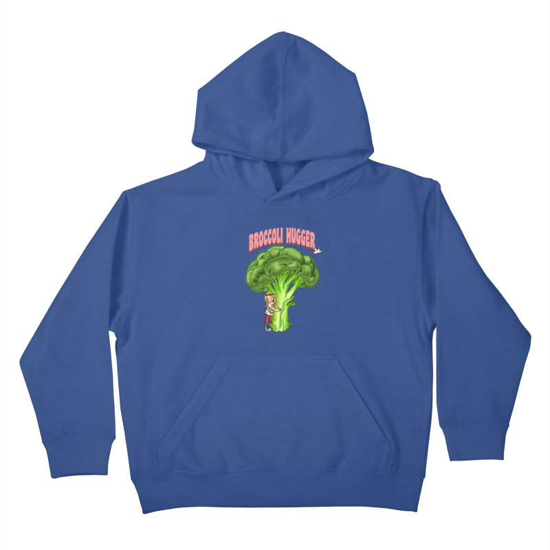 Broccoli Hugger Kids Pullover Hoody by kooky love's Artist Shop