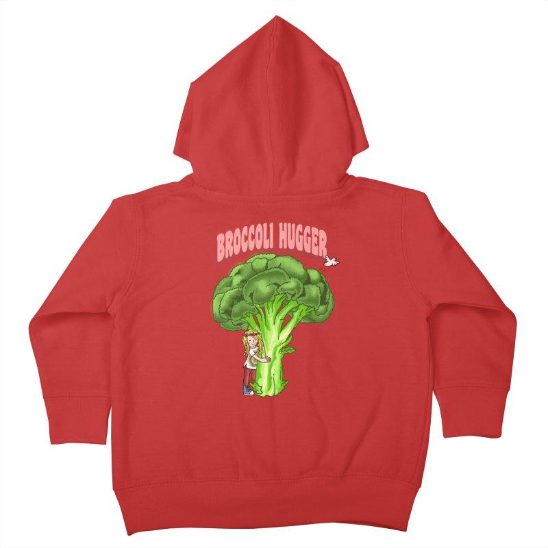 Broccoli Hugger Kids Toddler Zip-Up Hoody by kooky love's Artist Shop